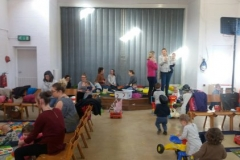 Parents and Toddlers enjoying the new hall