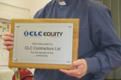 Plaque presented to All Hallows Church