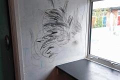 Ridge-Academy-Graffitied-Wall