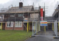 image of scaffold for new roofs for Ripon residents
